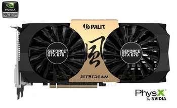 PALIT GTX670 PCIE3.0 2GB D5 JETSTREAM Paveikslėlis 1 iš 1 250255060605