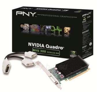 PNY NVS 300 PCI-E 512MB GDDR-3 2X DVI-I Paveikslėlis 1 iš 1 250255060613