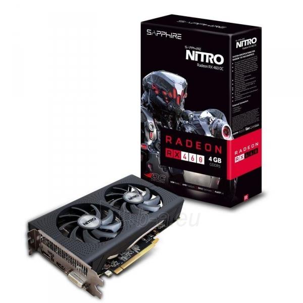 Vaizdo plokštė Sapphire Radeon RX 460 NITRO OC, 4GB GDDR5 (128 Bit) HDMI, DVI, DP, LITE Paveikslėlis 7 iš 7 310820046355