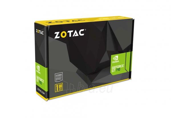 Vaizdo plokštė ZOTAC GeForce GT 710, 1GB DDR3 (64 Bit), HDMI, DVI, VGA Paveikslėlis 5 iš 7 310820011612