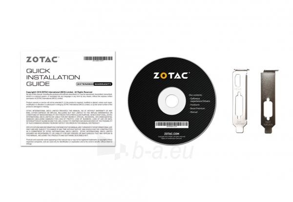 Vaizdo plokštė ZOTAC GeForce GT 710, 1GB DDR3 (64 Bit), HDMI, DVI, VGA Paveikslėlis 7 iš 7 310820011612