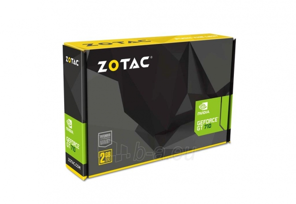 Vaizdo plokštė ZOTAC GeForce GT 710, 2GB DDR3 (64 Bit), HDMI, DVI, VGA Paveikslėlis 6 iš 8 310820011611