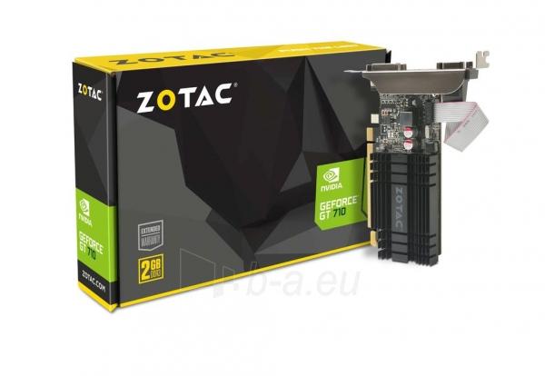 Vaizdo plokštė ZOTAC GeForce GT 710, 2GB DDR3 (64 Bit), HDMI, DVI, VGA Paveikslėlis 7 iš 8 310820011611