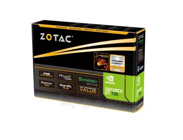 Vaizdo plokštė ZOTAC GeForce GT 730 Synergy Edition, 4GB DDR3 (128 Bit), 2xDVI, miniHDMI Paveikslėlis 6 iš 8 310820011576