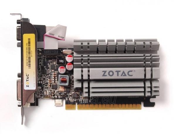 Vaizdo plokštė ZOTAC GeForce GT 730 Zone Edition Low Profile, 4GB DDR3 (64 Bit), HDMI, DVI, VGA Paveikslėlis 2 iš 9 310820011577