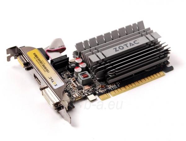 Vaizdo plokštė ZOTAC GeForce GT 730 Zone Edition Low Profile, 4GB DDR3 (64 Bit), HDMI, DVI, VGA Paveikslėlis 3 iš 9 310820011577