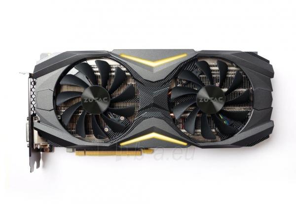 Vaizdo plokštė ZOTAC GeForce GTX 1080 AMP, 8GB GDDR5X (256 Bit), HDMI, DVI, 3xDP Paveikslėlis 2 iš 8 310820030420