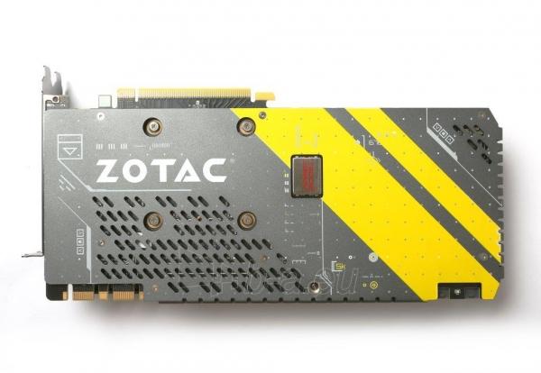 Vaizdo plokštė ZOTAC GeForce GTX 1080 AMP, 8GB GDDR5X (256 Bit), HDMI, DVI, 3xDP Paveikslėlis 3 iš 8 310820030420