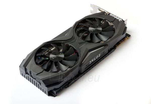 Vaizdo plokštė ZOTAC GeForce GTX 1080 AMP, 8GB GDDR5X (256 Bit), HDMI, DVI, 3xDP Paveikslėlis 5 iš 8 310820030420