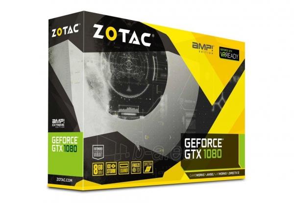 Vaizdo plokštė ZOTAC GeForce GTX 1080 AMP, 8GB GDDR5X (256 Bit), HDMI, DVI, 3xDP Paveikslėlis 7 iš 8 310820030420