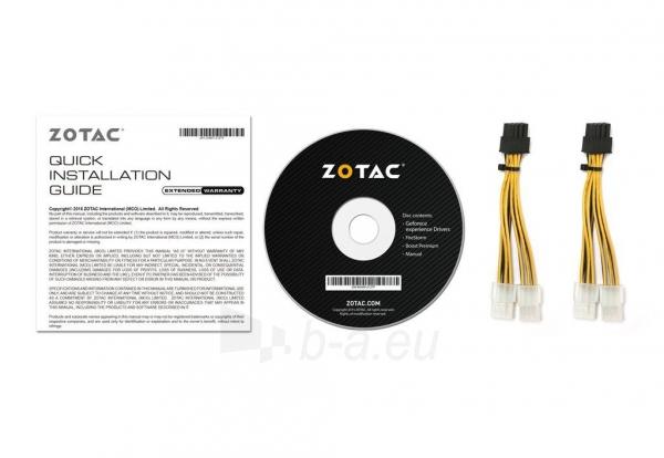 Vaizdo plokštė ZOTAC GeForce GTX 1080 AMP, 8GB GDDR5X (256 Bit), HDMI, DVI, 3xDP Paveikslėlis 8 iš 8 310820030420