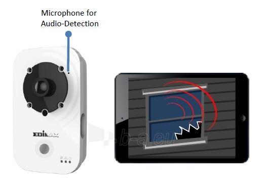 Edimax 720p Wireless H.264 IR IP Camera, PIR sensor, 2-way audio, Night view Paveikslėlis 7 iš 9 250243100510