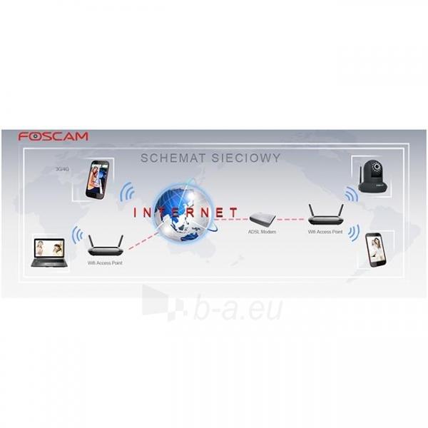 Foscam IP camera FI9851P WLAN 2.8mm H.264 720p Plug&Play Paveikslėlis 5 iš 6 250243100623