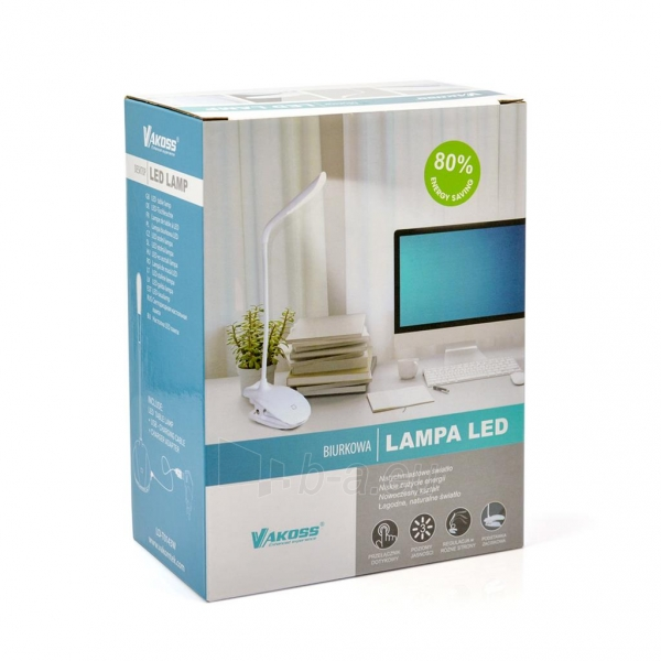 Vakoss stalo ledo lempa LD-T0143W balta Paveikslėlis 2 iš 11 310820147537