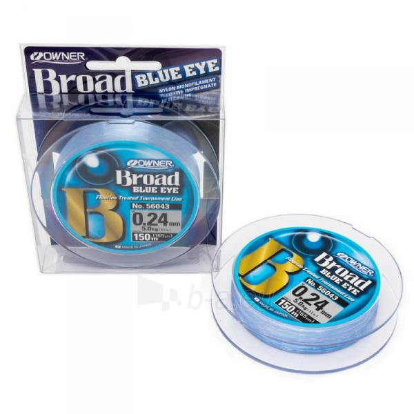 Valas OWNER Broad Blue 150m 0.26mm Paveikslėlis 1 iš 1 310820253998
