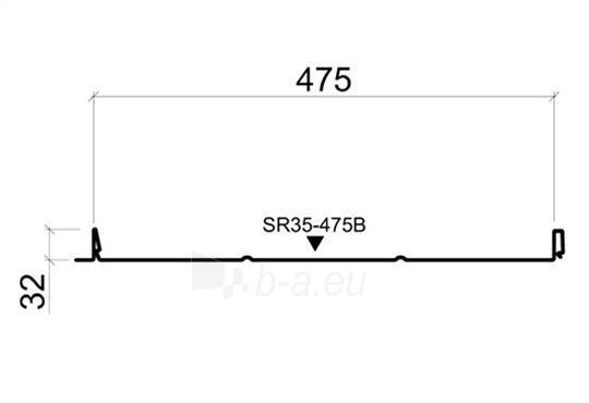 Valcuoto profilio skarda Ruukki Classic Economy B Paveikslėlis 2 iš 7 310820023726