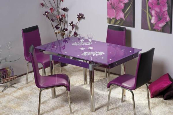 Valgomojo Stalas GD-082 violetinis Paveikslėlis 1 iš 1 250422000154