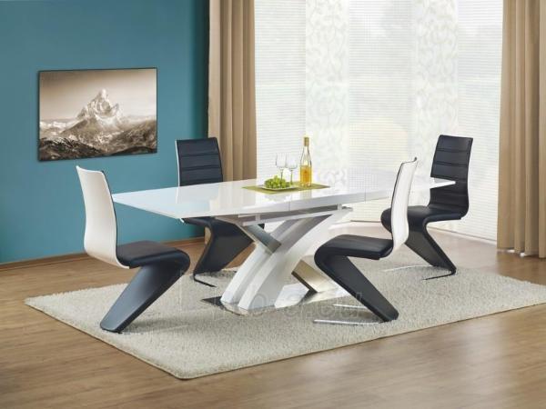 Valgomojo stalas Sandor (baltas) išskleidžiamas Paveikslėlis 2 iš 10 250422000396