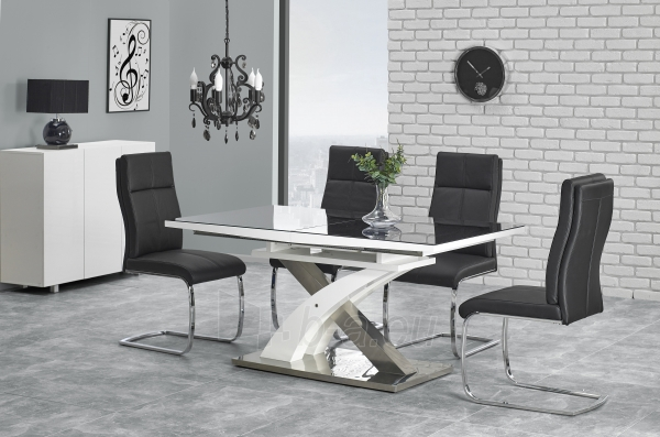 Valgomojo stalas SANDOR 2 juoda Paveikslėlis 2 iš 4 310820195243