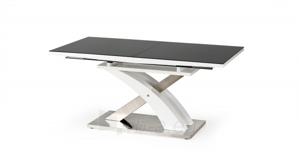 Valgomojo stalas SANDOR 2 juoda Paveikslėlis 3 iš 4 310820195243