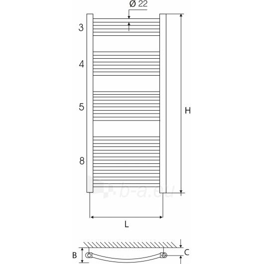 Vandeninis rankšluoščių džiovintuvas ELONIKA EP 50X110 KL/KLD Paveikslėlis 1 iš 2 270651000483