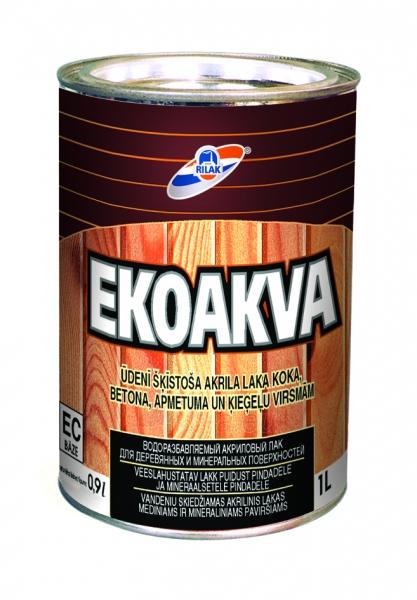 Vandeniu skiedžiamas akrilinis lakas Ekoakva 0,9 l Paveikslėlis 1 iš 1 236590000226