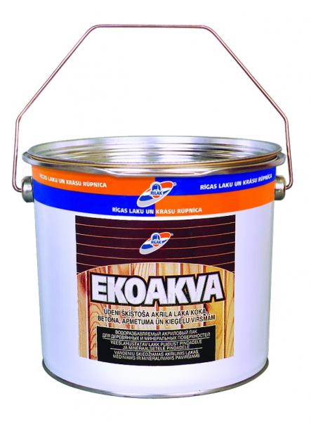 Vandeniu skiedžiamas akrilinis lakas Ekoakva 2,7 l Paveikslėlis 1 iš 1 236590000227