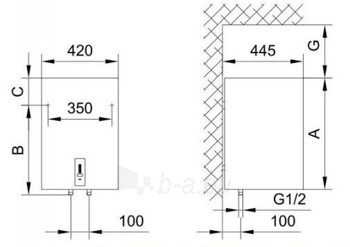 Vandens šildytuvas Gorenje OGBS 80 L OR Paveikslėlis 3 iš 3 310820253670