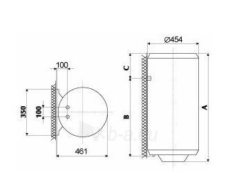 Vandens šildytuvas Gorenje TGR 150 L N Paveikslėlis 3 iš 3 310820253661