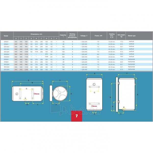 Vandens šildytuvas Thermex ER 300V COMBI Paveikslėlis 3 iš 3 310820253718