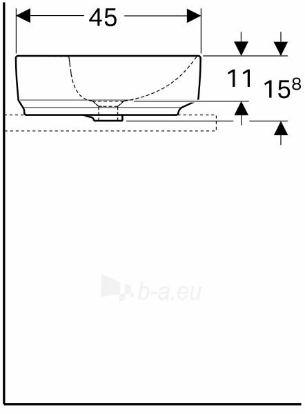 VariForm pastatomas praustuvas, baltas, ovalus, 60 cm Paveikslėlis 3 iš 3 310820165634