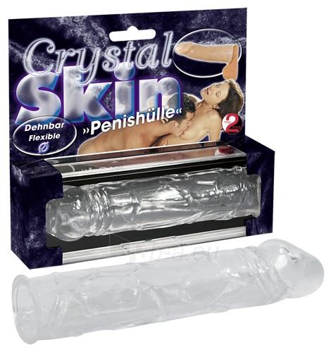 Varpos antgalis Crystal Skin Penis Sleeve Paveikslėlis 1 iš 1 310820022256