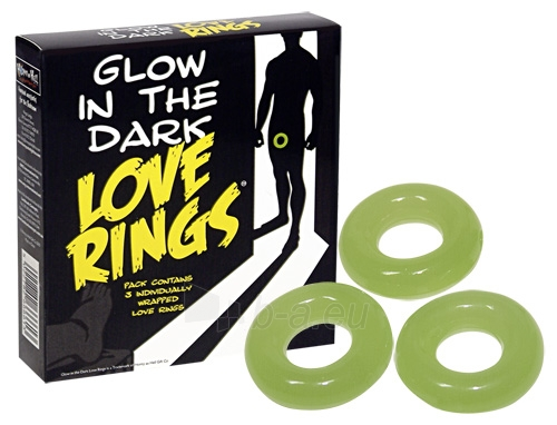 Varpos žiedai šviečiantys tamsoje Paveikslėlis 2 iš 2 25140304000132