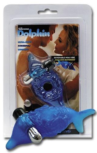 Varpos žiedas Cock ring Silicone Dolphin Paveikslėlis 1 iš 1 310820022273