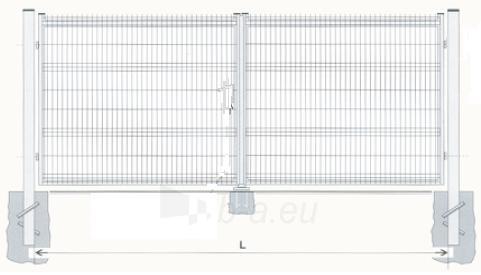 Hot dipped galvanized Swing Gates 1000x3000 (filler-segment) Paveikslėlis 1 iš 2 239370000032