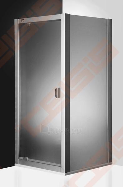 Varstomos dušo durys ROLTECHNIK ECLUSIVE LINE ECDO1/100 montavimui į nišą su sidabro spalvos profiliu ir šerkšnu padengtu stiklu Paveikslėlis 2 iš 4 270770000394