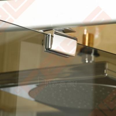 Varstomos dušo durys ROLTECHNIK ECLUSIVE LINE ECDO1/90 montavimui į nišą su sidabro spalvos profiliu ir šerkšnu padengtu stiklu Paveikslėlis 3 iš 4 270770000397