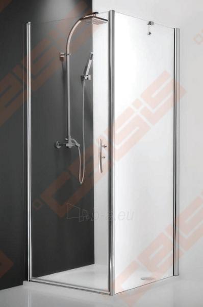 Varstomos dušo durys ROLTECHNIK HITECH HORIZON HHOL1/100/200 su brillant spalvos profiliu ir skaidriu stiklu (kairė pusė) Paveikslėlis 1 iš 2 270770000398
