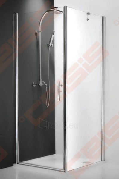 Varstomos dušo durys ROLTECHNIK HITECH HORIZON HHOP1/90/200 su brillant spalvos profiliu ir skaidriu stiklu (dešinė pusė) Paveikslėlis 1 iš 2 270770000401