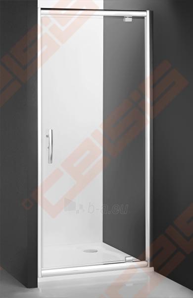 Varstomos dušo durys ROLTECHNIK PROXIMA LINE PXDO1N/80, skirtos montuoti į nišą, su brillant spalvos profiliu ir šerkšnu padengtu stiklu Paveikslėlis 1 iš 3 270770000408
