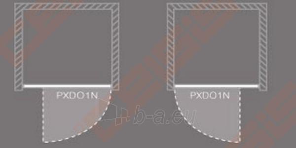 Varstomos dušo durys ROLTECHNIK PROXIMA LINE PXDO1N/90, skirtos montuoti į nišą, su brillant spalvos profiliu ir šerkšnu padengtu stiklu Paveikslėlis 3 iš 3 270770000410