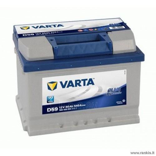 VARTA BLUE DYNAMIC D59 60Ah akumuliatorius Paveikslėlis 1 iš 1 310820017728