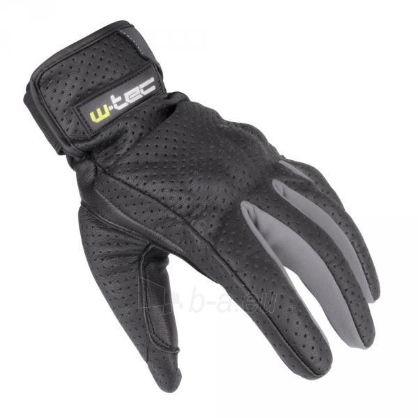 Vasarinės odinės motociklininko pirštinės W-TEC NF-4150, Spalva pilka, Dydis M Paveikslėlis 1 iš 10 310820243929