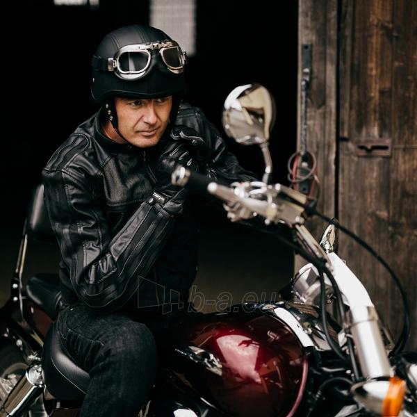 Vasarinės odinės motociklininko pirštinės W-TEC NF-4150, Spalva pilka, Dydis M Paveikslėlis 8 iš 10 310820243929