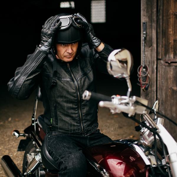 Vasarinės odinės motociklininko pirštinės W-TEC NF-4150, Spalva pilka, Dydis M Paveikslėlis 7 iš 10 310820243929