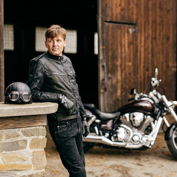 Vasarinės odinės motociklininko pirštinės W-TEC NF-4150, Spalva pilka, Dydis M Paveikslėlis 3 iš 10 310820243929