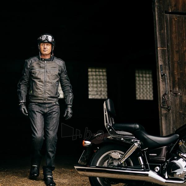 Vasarinės odinės motociklininko pirštinės W-TEC NF-4150, Spalva pilka, Dydis M Paveikslėlis 10 iš 10 310820243929