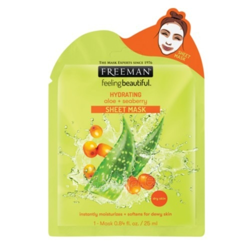 Veido kaukė Freeman (Hydrating Sheet Mask) Aloe Vera and Hydration (Hydrating Sheet Mask) 25 ml Paveikslėlis 1 iš 1 310820155976