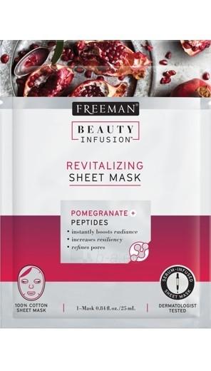 Veido kaukė Freeman Revitalizing Face Mask Beauty Infusion (Revitalizing Sheet Mask) 25 ml Paveikslėlis 1 iš 1 310820155958