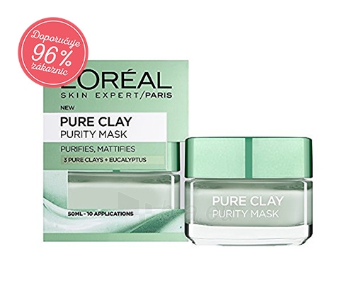 Veido mask Loreal Paris Mattifying cleansing mask Pure Clay (Purity Mask) 50 ml Paveikslėlis 2 iš 2 310820089414